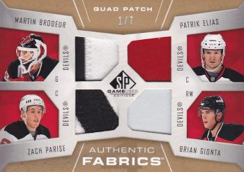 patch karta BRODEUR/PARISE/ELIÁŠ/GIONTA 07-08 SPGU Quad Patch /7