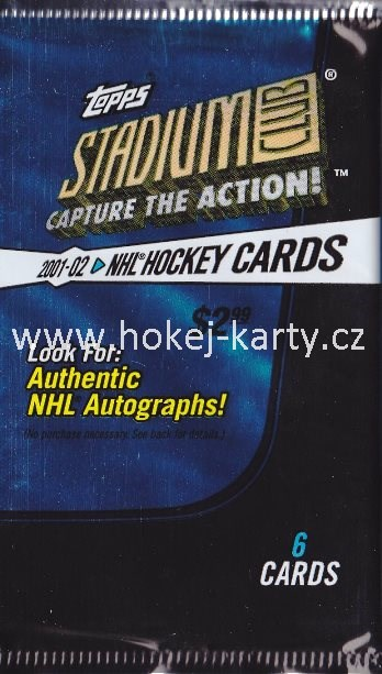 2001-02 Topps Stadium Club Hockey Retail Balíček