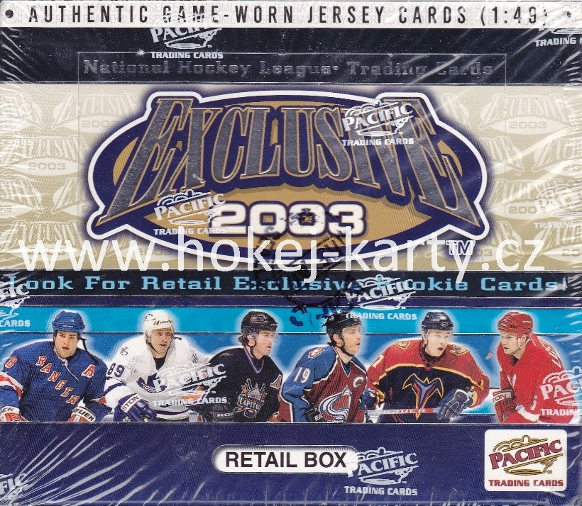 2002-03 Pacific Exclusive Retail Box