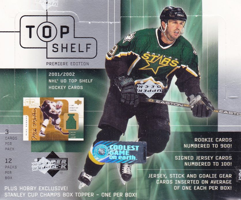 2001-02 UD Top Shelf Hockey Hobby Box