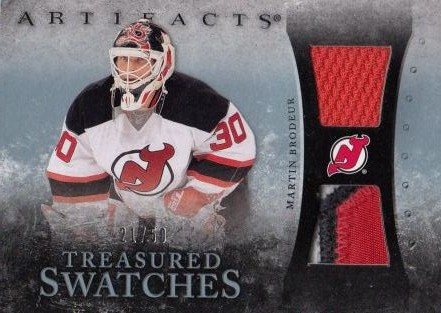 jersey patch karta MARTIN BRODEUR 10-11 Artifacts Treasured Swatches Blue /50
