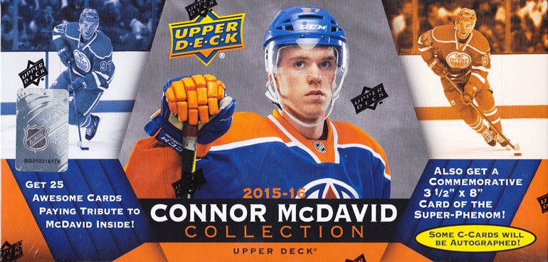 2015-16 UD Connor McDavid Collection set