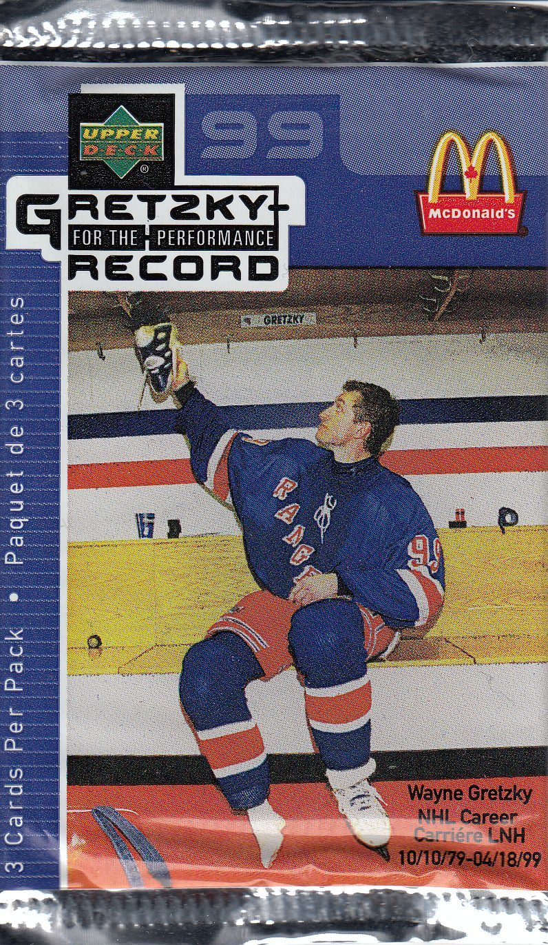 1999-00 UD Wayne Gretzky for the Performance Record Balíček