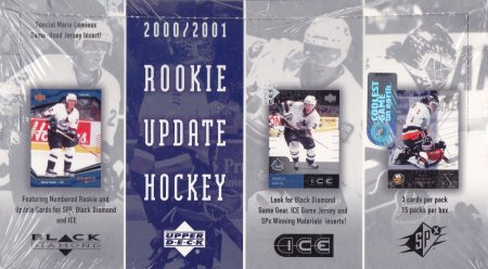2000-01 UD Rookie Update Hockey Hobby Box