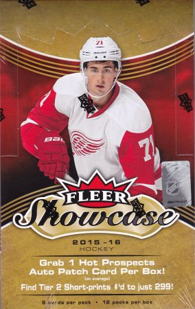 2015-16 UD Fleer Showcase Hockey Hobby Box