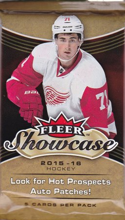 2015-16 UD Fleer Showcase Hockey Hobby Balíček