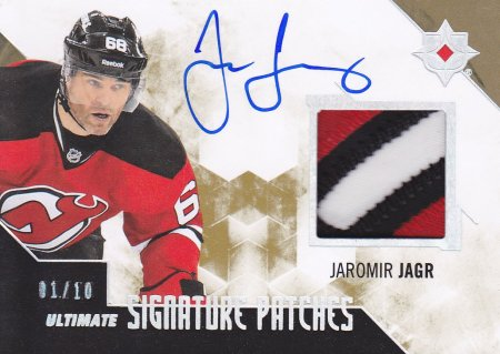 AUTO patch karta JAROMÍR JÁGR 14-15 UD Ultimate Signature Patches /10