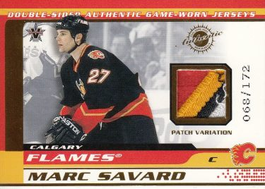 patch karta SAVARD/TUREK 01-02 Vanguard Game-Used Memorabilia /172