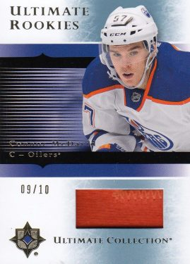 patch RC karta CONNOR McDAVID 15-16 UD Ultimate 05-06 Ultimate Rookies Gold /10
