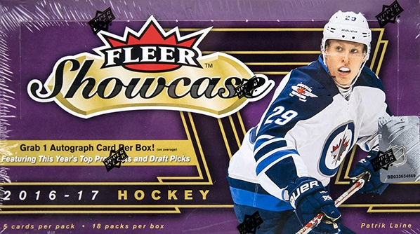 2016-17 UD Fleer Showcase Hockey Hobby Box