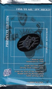 1998-99 UD SPx Finite Prospect Edition Hockey Hobby Balíček
