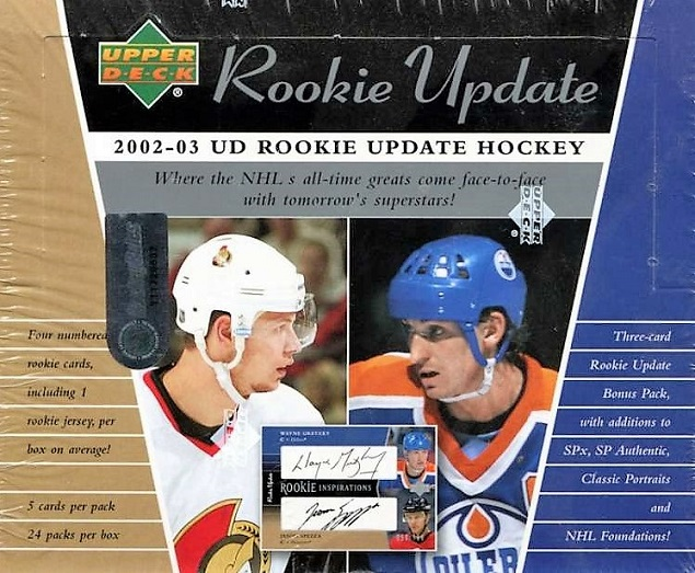 2002-03 UD Rookie Update Hockey Hobby Box