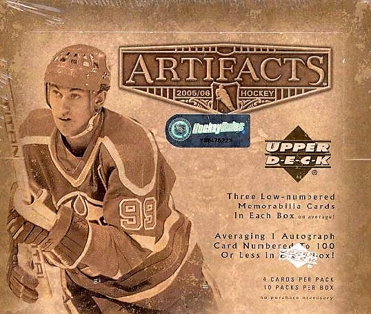 2005-06 UD Artifacts Hockey Hobby Box