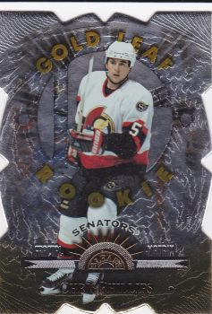 paralel RC karta CHRIS PHILLIPS 97-98 Leaf Fractal Matrix Gold Rookie