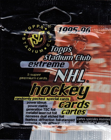 1995-96 Topps Stadium Club Extreme Hockey Retail Balíček