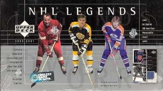 2000-01 UD NHL Legends Hockey HOBBY Box