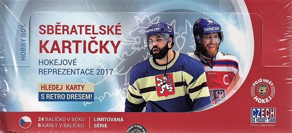 2016-17 Czech Ice Hockey Team Hockey Hobby Box