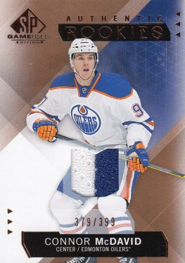 jersey RC karta CONNOR McDAVID 15-16 SPGU Authentic Rookies Copper /399