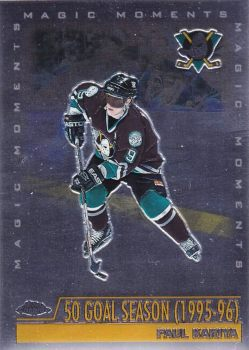 insert karta PAUL KARIYA 99-00 Topps Chrome Magic Moments číslo 281