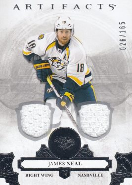 jersey karta JAMES NEAL 17-18 Artifacts Silver /165