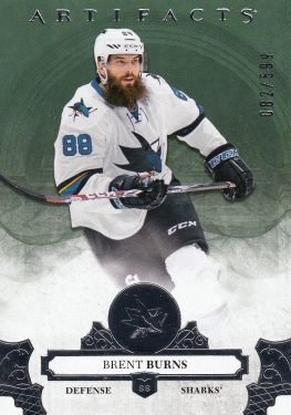 insert karta BRENT BURNS 17-18 Artifacts Stars /599