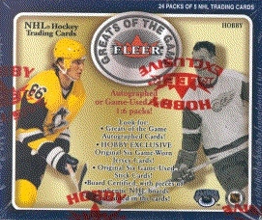 2001-02 Fleer Greats of the Game Hockey HOBBY Box