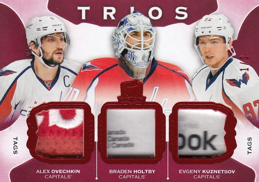 tag patch karta OVECHKIN/HOLTBY/KUZNETSOV 15-16 UD The Cup Trios /2