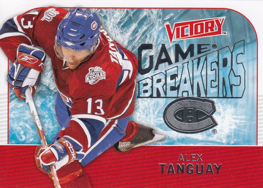 insert karta ALEX TANGUAY 09-10 Victory Game Breakers číslo GB16