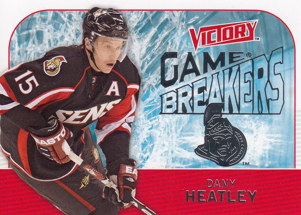 insert karta DANY HEATLEY 09-10 Victory Game Breakers číslo GB27