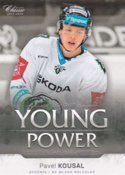 insert RC karta PAVEL KOUSAL 17-18 OFS Classic Ser. 2 Young Power /99