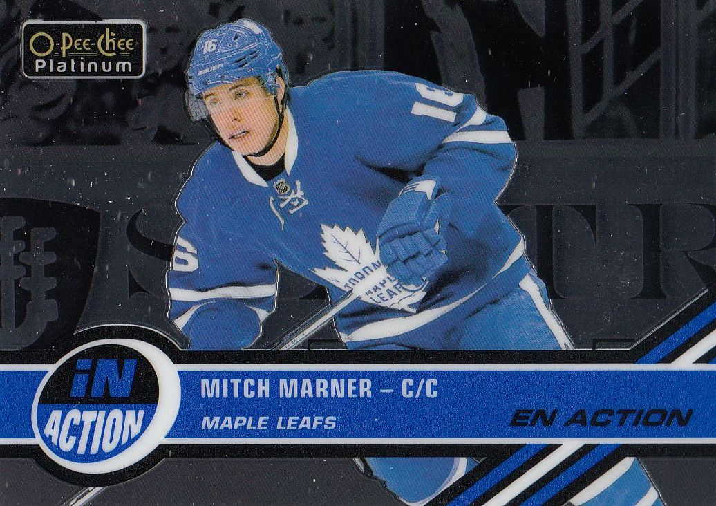 insert karta MITCH MARNER 17-18 OPC Platinum In Action číslo IA-18