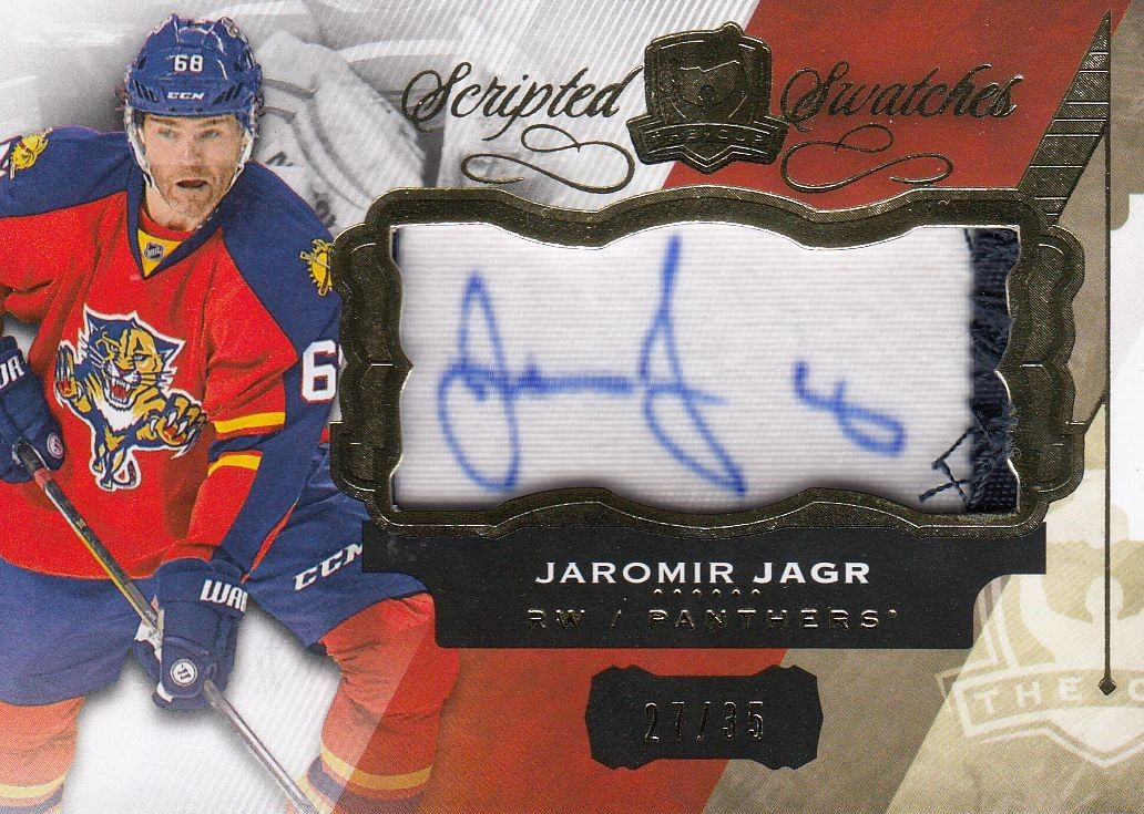 AUTO patch karta JAROMÍR JÁGR 15-16 UD The Cup Scripted Swatches /35