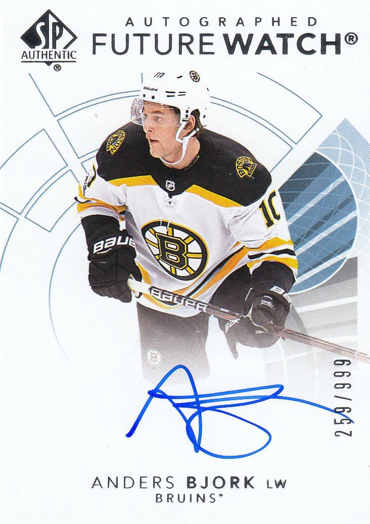 AUTO RC karta ANDERS BJORK 17-18 SP Authentic Future Watch Autographed /999
