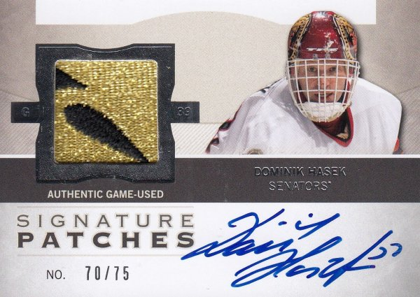 AUTO patch karta DOMINIK HAŠEK 12-13 UD The Cup Signature Patches /75