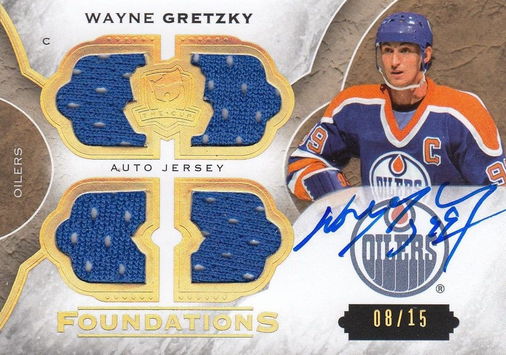 AUTO jersey karta WAYNE GRETZKY 15-16 UD The Cup Foundations /15