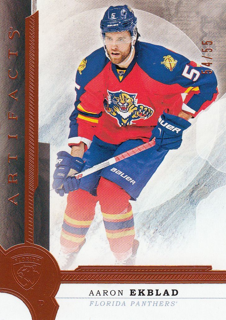 paralel karta AARON EKBLAD 16-17 Artifacts Orange /55