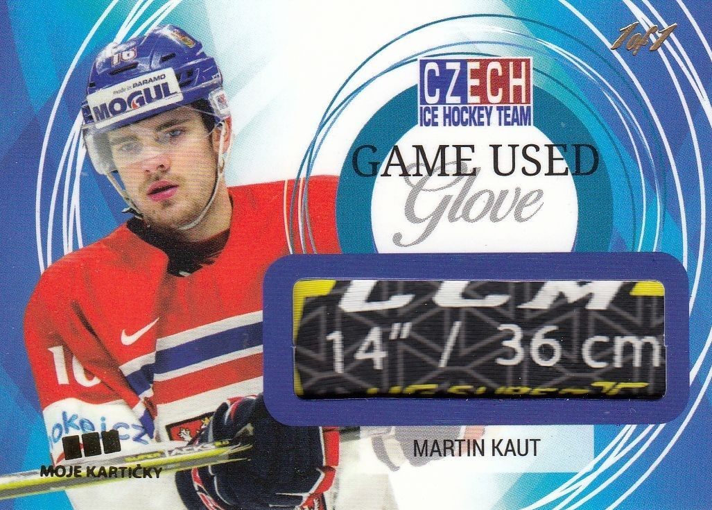 glove karta MARTIN KAUT 17-18 Czech Ice Hockey Team Game Used Glove /1