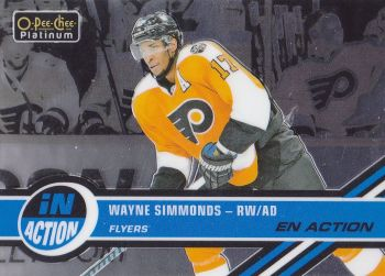 insert karta WAYNE SIMMONDS 17-18 OPC Platinum In Action číslo IA-15