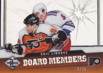 insert karta ERIC LINDROS 12-13 Limited Board Members Die-Cut /25