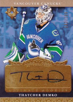 AUTO RC karta THATCHER DEMKO 16-17 Ultimate Rookies Update /199