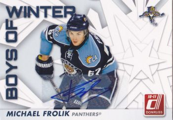 AUTO karta MICHAL FROLÍK 10-11 Donruss Boys of Winter /25