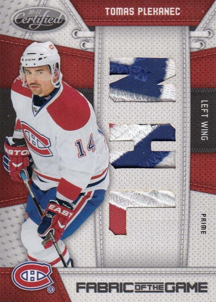 patch karta TOMÁŠ PLEKANEC 10-11 Certified Fabric of the Game /10