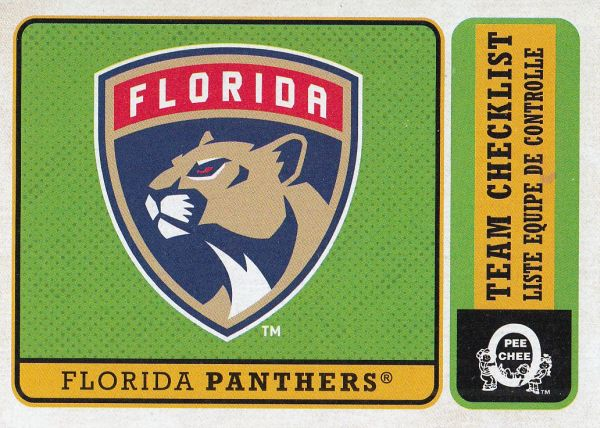 insert karta FLORIDA PANTHERS 18-19 OPC Team Checklist Retro číslo 564