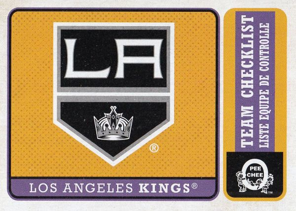 insert karta LOS ANGELES KINGS 18-19 OPC Team Checklist Retro číslo 586