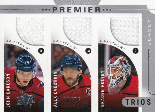 jersey karta CARLSON/OVECHKIN/HOLTBY 17-18 UD Premier Trios /75