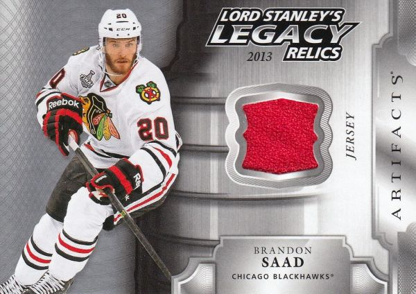 jersey karta BRANDON SAAD 18-19 Artifacts Lord Stanley´s Legacy Relics