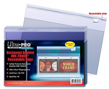 Obaly Horizontal Booklet One Touch Resealable Bags (50 ks)