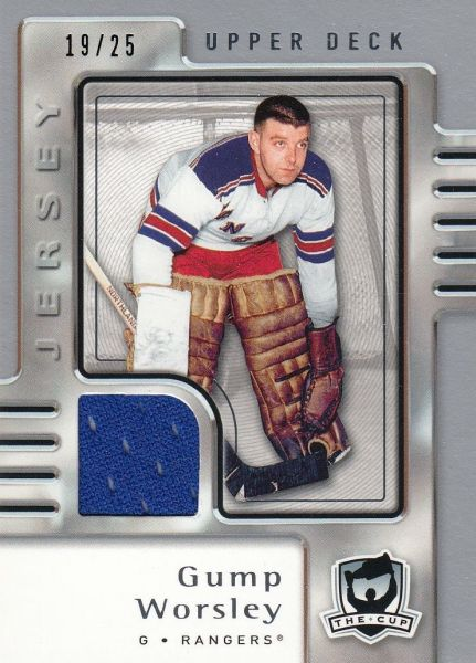 jersey karta GUMP WORSLEY 06-07 UD The Cup Jersey /25