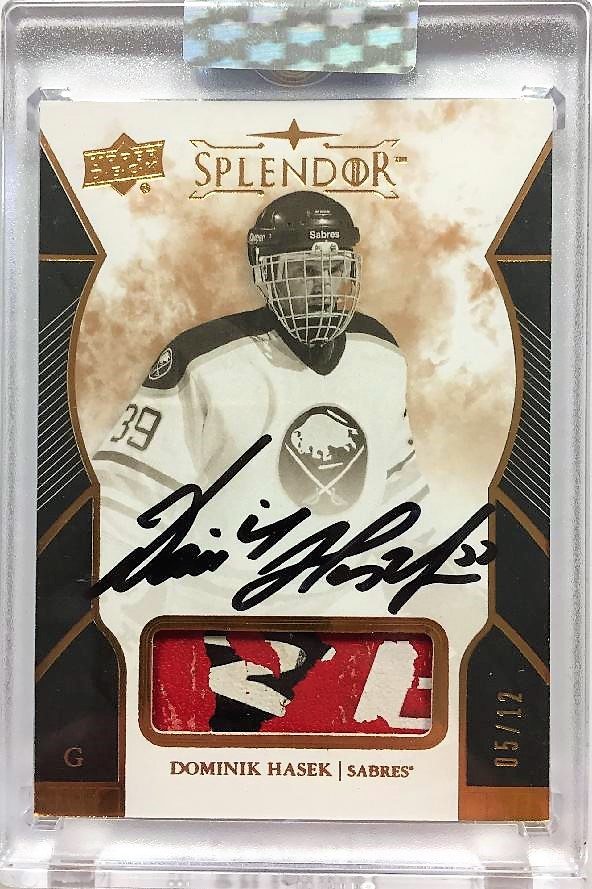 AUTO pad karta DOMINIK HAŠEK 17-18 Splendor Black and White Copper /12