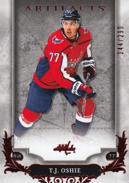 paralel karta T. J. OSHIE 18-19 Artifacts Ruby /299